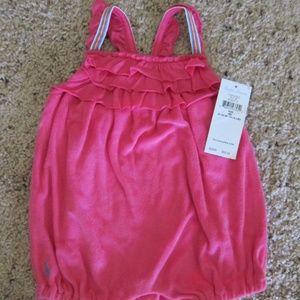 RALPH LAUREN Romper 3 mth Pink Sun Suit NEW